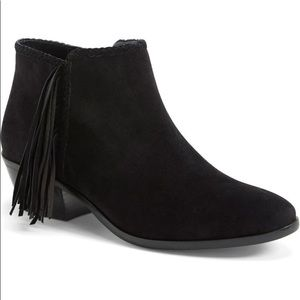 Sam Edelman leather fringe Paige ankle booties